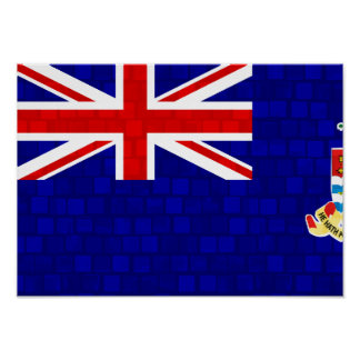 Modern Pattern Caymanian Flag Posters
