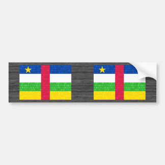 Modern Pattern Central African Flag Bumper Stickers