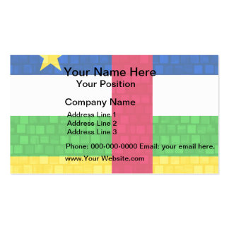 Modern Pattern Central African Flag Business Card