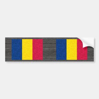 Modern Pattern Chadian Flag Bumper Sticker