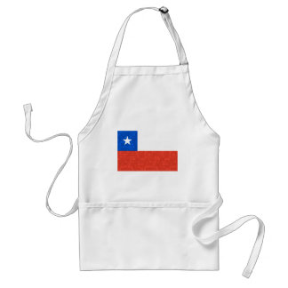 Modern Pattern Chilean Flag Adult Apron