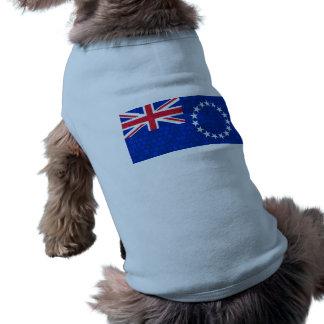 Modern Pattern Cook Island Flag Dog T Shirt