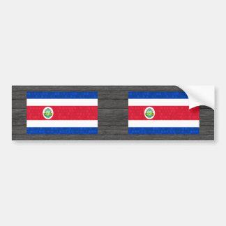 Modern Pattern Costa Rican Flag Bumper Sticker