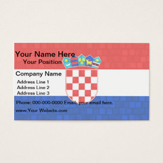 Modern Pattern Croatian Flag Business Card