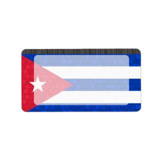 Modern Pattern Cuban Flag Label