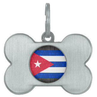 Modern Pattern Cuban Flag Pet Tags