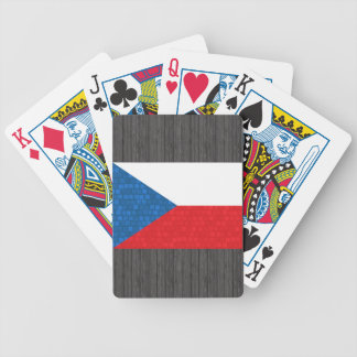 Modern Pattern Czech Flag Bicycle Playing Cards