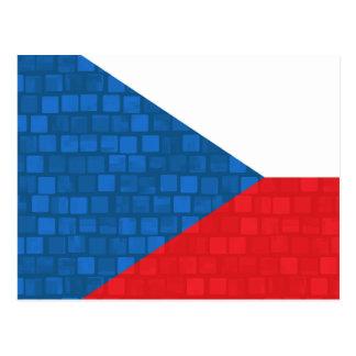 Modern Pattern Czech Flag Postcard