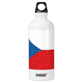 Modern Pattern Czech Flag Water Bottle