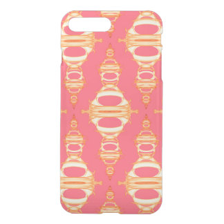 Modern Pattern Dividers 03 Gold and Magenta iPhone 8 Plus/7 Plus Case