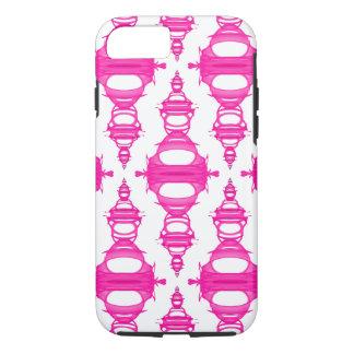 Modern Pattern Dividers 03 Pink Custom Backgrnd iPhone 8/7 Case