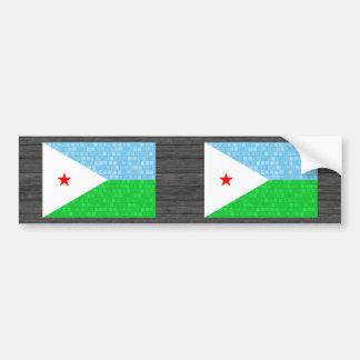 Modern Pattern Djibouti Flag Bumper Stickers