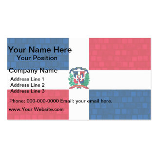 Modern Pattern Dominican Flag Business Card
