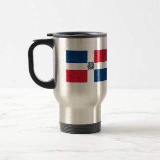 Modern Pattern Dominican Flag Travel Mug