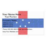 Modern Pattern Dutch Flag Business Card Template
