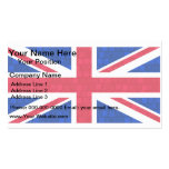 Modern Pattern English Flag Business Card Template