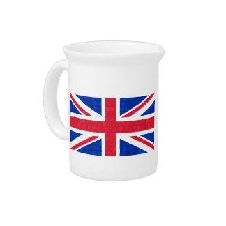 Modern Pattern English Flag Beverage Pitcher