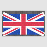 Modern Pattern English Flag Rectangle Stickers