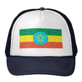 Modern Pattern Ethiopian Flag Trucker Hat