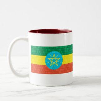 Modern Pattern Ethiopian Flag Coffee Mugs