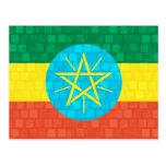 Modern Pattern Ethiopian Flag Post Card