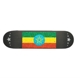 Modern Pattern Ethiopian Flag Skate Deck