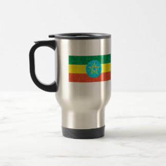 Modern Pattern Ethiopian Flag Travel Mug