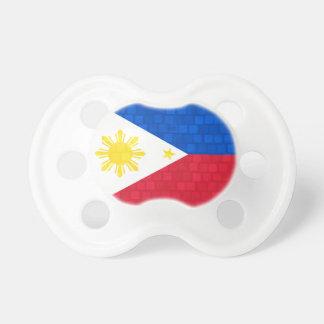 Modern Pattern Filipino Flag Pacifier