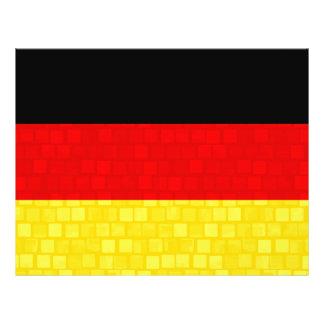 Modern Pattern German Flag Personalized Flyer