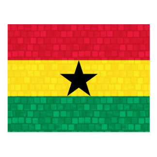 Modern Pattern Ghanaian Flag Postcard