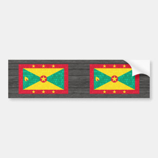 Modern Pattern Grenadian Flag Bumper Sticker