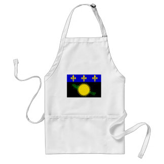 Modern Pattern Guadeloupean Flag Adult Apron