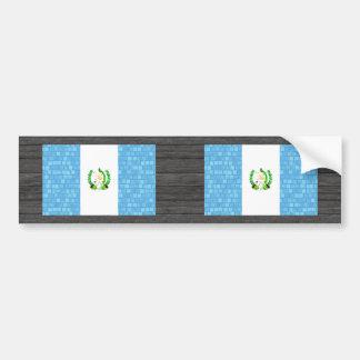 Modern Pattern Guatemalan Flag Bumper Stickers