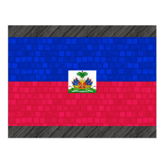 Modern Pattern Haitian Flag Postcard