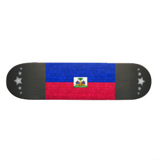 Modern Pattern Haitian Flag Skate Board Decks