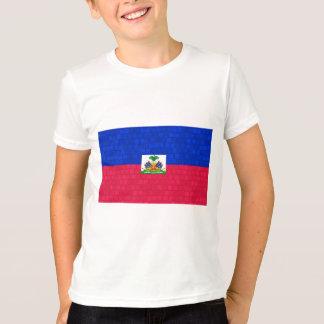 Modern Pattern Haitian Flag T-Shirt
