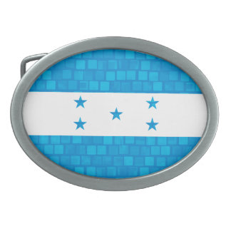 Modern Pattern Honduran Flag Belt Buckles