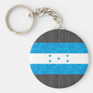 Modern Pattern Honduran Flag Key Chains