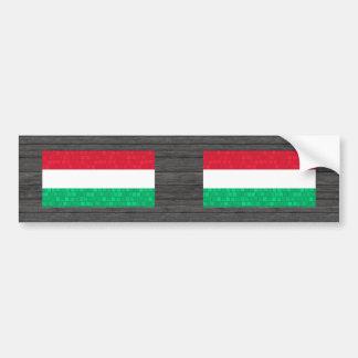 Modern Pattern Hungarian Flag Bumper Stickers