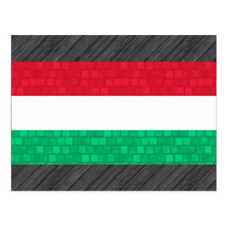 Modern Pattern Hungarian Flag Postcard