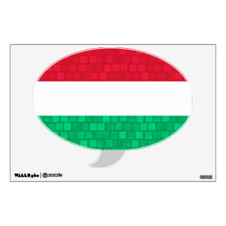 Modern Pattern Hungarian Flag Wall Sticker