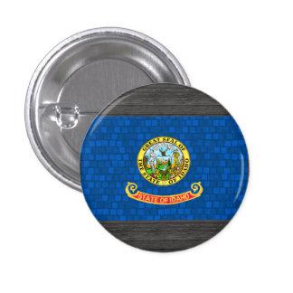 Modern Pattern Idahoan Flag Pinback Button