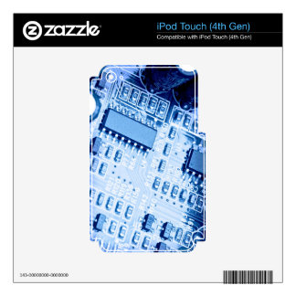 Modern pattern in blue colors iPod touch 4G skin