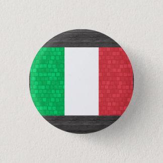Modern Pattern Italian Flag Pinback Button