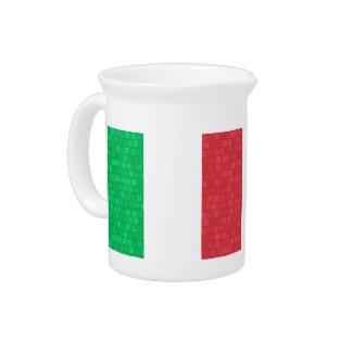 Modern Pattern Italian Flag Pitchers