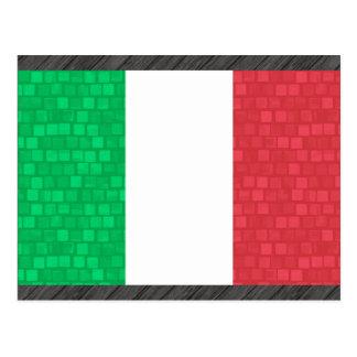 Modern Pattern Italian Flag Postcard