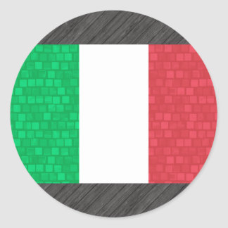Modern Pattern Italian Flag Sticker