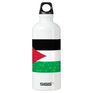 Modern Pattern Jordanian Flag Aluminum Water Bottle
