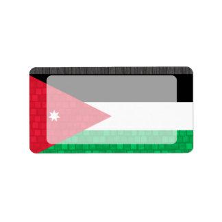 Modern Pattern Jordanian Flag Label