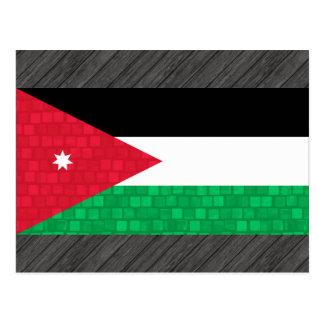 Modern Pattern Jordanian Flag Postcard